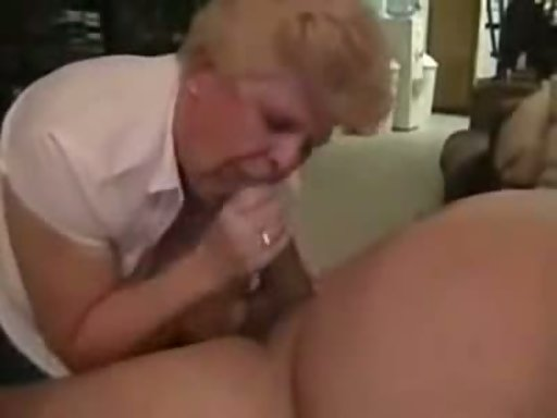 Mature housewife gives blowjob