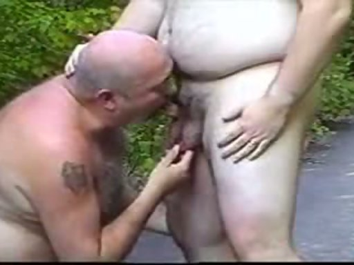 Mature gay men having anal sex